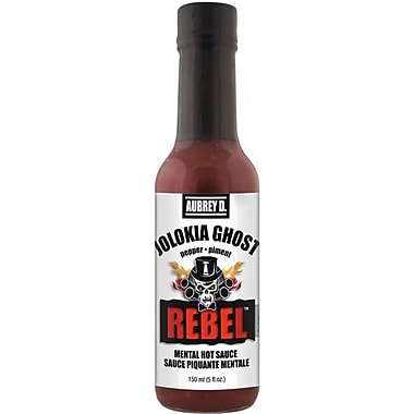 Red Hot Ghost Peppers in Aubrey D. Rebel Jolokia Ghost Hot Sauce, 4/Pack (257725)