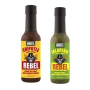 Aubrey D. Irresistibly Spicy and Lip Smacking Tasty Rebel Chipotle Hot Sauce and Rebel Jalapeno Hot Sauce, 2/Pack (BLB0055)