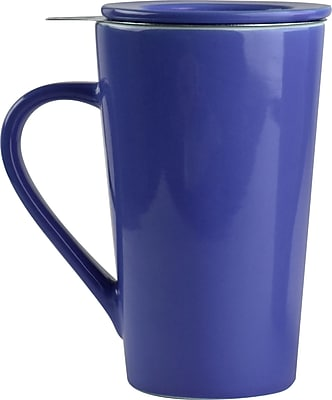 ASOBU Tea Time Ceramic Mug Set, Blue - 15 oz. (TD4-BLUE)