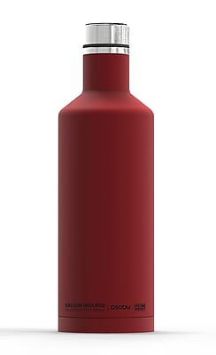 ASOBU Times Square Stainless Steel Double Walled Insulated Travel Water and Beverage Bottle, Red - 15 oz. (SBV15-RED)