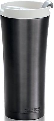 ASOBU Manhattan Insulated Stainless Steel Coffee Tumbler, Black - 17 oz. (V700-BLACK)