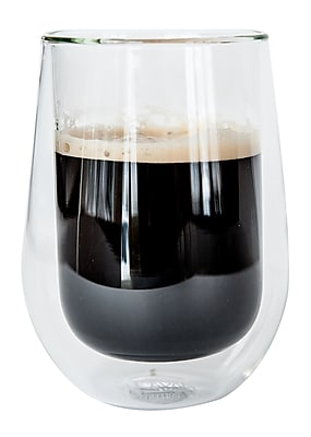 Insulated Glasses for Coffee or Tea, Set of 2 from JavaFly, 12oz, 2/Pack (DBG-A09-12oz) 24116846