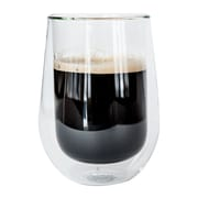 Insulated Glasses for Coffee or Tea, Set of 2 from JavaFly, 12oz, 2/Pack (DBG-A09-12oz)
