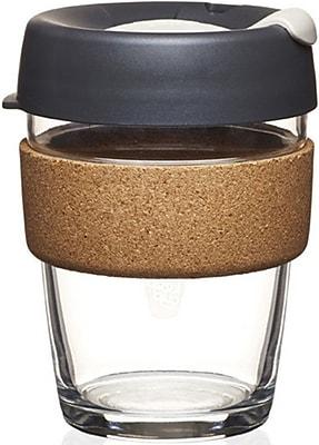 KeepCup Brew Cork Edition Medium Glass Reusable Coffee Cup 12oz - Press (BPRE12)