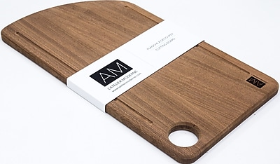 The Acajou by L'Atelier Moderne, Mahogany Wood Cutting Board 11x20 (AM-SS-1120-CB)