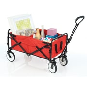 "SECO Heavy Duty 31""L x 18""W Folding Multi-Purpose Utility Cart, Red  (YZ8037)"