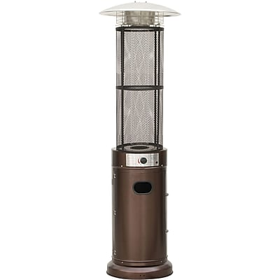Hanover 6 Ft. 34,000 BTU Cylinder Patio Heater with Glass Flame Display in Bronze (HAN031BRCL)