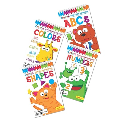 Early Skills Write On Wipe Off Books, Pre K, Set of 4 (PBSERST2002)