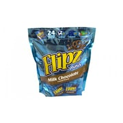 Flipz Mini Chocolate Covered Pretzels Snack Bags, 24 Count (00032)