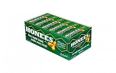 HONEES Cough Drop Bars Honey Lemon, 24 Count (407)