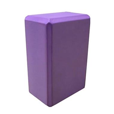 Nu-Source 9 x 6 in. Foam Yoga Block - Purple (NUSC004)