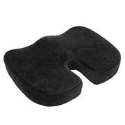Aurora Health & Beauty Black Orthopedically Back Designed Memory Foam Coccyx Cushion Seat (ARHT1009)