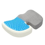 Aurora Health & Beauty Gray Orthopedically Back Designed Memory Foam with Cooling Gel Coccyx Cushion Seat (ARHT1010)