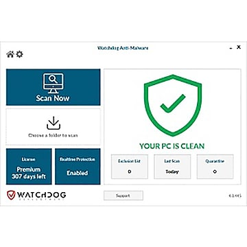 Watchdog Anti-Malware for 5 Users, Windows, Download (WAM-5U-36-N1)