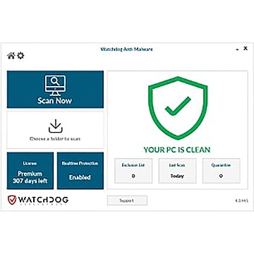 Watchdog Anti-Malware for 1 User, Windows, Download (WAM-1U-12-N1)