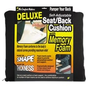 Master Caster Deluxe Seat & Back Cushion with Memory Foam, Black (AZTY09448)