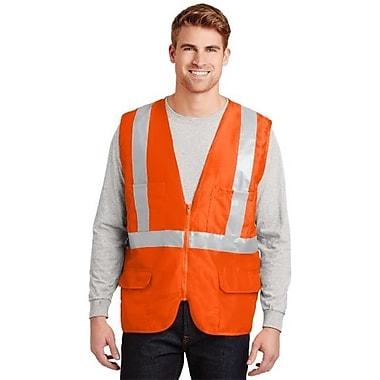 Cornerstone CSV405 Men's ANSI 107 Class 2 Mesh Back Safety Vest, Safety Orange - 4XL (SANMR15159)