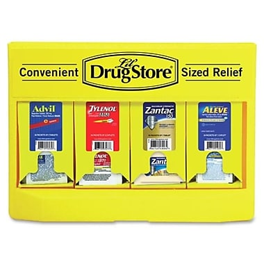 LIL' DRUG STORE Medicine Dispenser 4 Meds Single Dose Yellow (SPRCH32267)