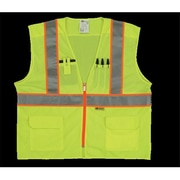 2W Class 2 Mesh and Solid, Anise Vest - Lime, Medium (2WIT120)