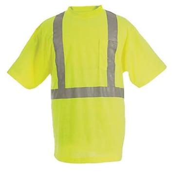 Berne Apparel 44''/Large Tall Hi-Visibility Short Sleeve Pocket Tee - Yellow (BRNAP1195)