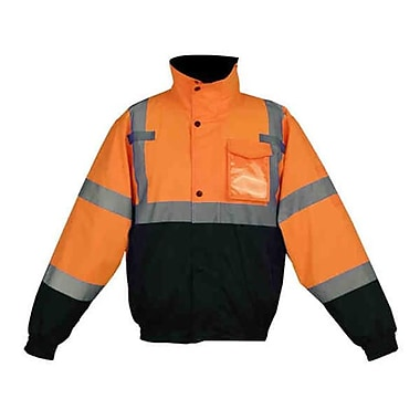 GSS Class 3 Waterproof Quilt-Lined Bomber Jacket - Orange with Black Bottom, MD (GSSS292)
