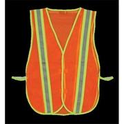 2W Economy Mesh Safety Vest Trim Stripe - Orange (2WIT066)