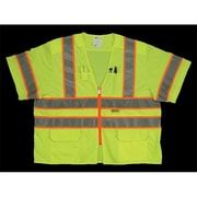 2W Class 3 Mesh and Solid, Anise Vest - Lime, Extra Large (2WIT136)