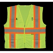 2W Class 2 Mesh Multi-Pocket Vest - Lime, Extra Large (2WIT099)