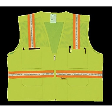 2W Multi-Pocket Surveyor Vest - Lime, 5 Extra Large (2WIT088)