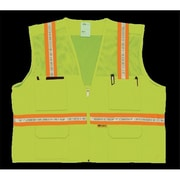 2W Multi-Pocket Surveyor Vest - Lime, Medium (2WIT082)