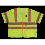 2W Class 3 Mesh and Solid, Anise Vest - Lime, 4 Extra Large (2WIT139)