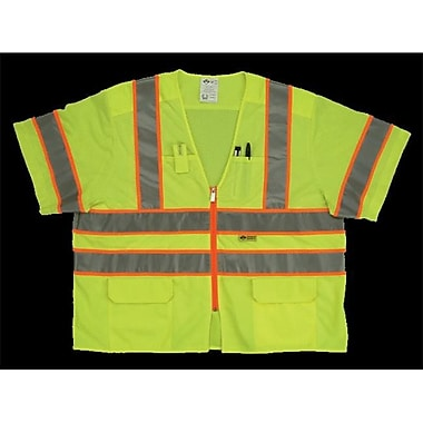 2W Class 3 Mesh and Solid, Anise Vest - Lime, XX-Large (2WIT137)