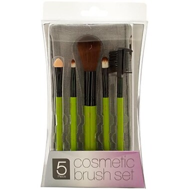DDI Cosmetic Brush set with Mesh Zipper Case, Case of 4 (DLR56413)