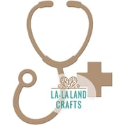 "La-La Land Die-Stethoscope, 3.25""X2"""