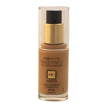 Max Factor Facefinity All Day Flawless 3 In 1 Foundation SPF20-No.75 Golden s, 1 oz. (PWW32062)