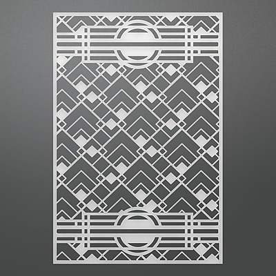 Ultimate Crafts The Ritz Background Die-Geometric 3.7