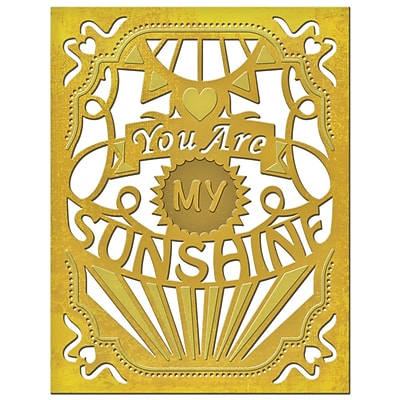 Spellbinders Card Creator Die-You Are My Sunshine