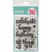"Avery Elle Clear Stamp Set 4""X6""-Big Greetings"