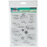 """Penny Black Clear Stamps 5""""X7""""-Season's Gift"""