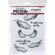 """Dina Wakley Media Cling Stamps 6""""X9""""-Scribbly Wings"""