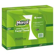 Marcal 100 Percent Recycled Convenience Pack Facial Tissue, White (AZTY09405)