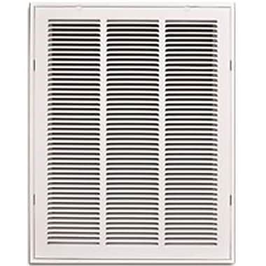 Truaire Removable Face Stamped Return Air Filter Grille, White - 10 x 30 in. (HRWEX25235)