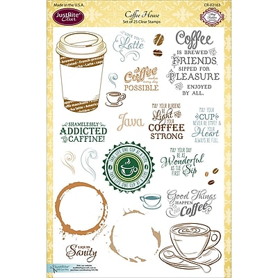 Justrite Papercraft Coffee House JustRite Papercraft Clear Stamps 6