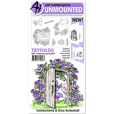 Art Impressions Celebrate Spring Art Impressions Mini TryFolds Clear Stamps 10