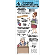 Art Impressions Teachers Rule Art Impressions Work & Play Clear Stamp Set (4901)