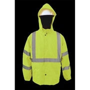 2W 100 Percent Waterproof Rain Jacket - Lime, 5 Extra Large (2WIT048)