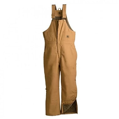 Berne Apparel Large Short Deluxe Insulated Bib Overall - Brown Duck (BRNAP165)