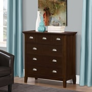 Simpli Home Acadian Bedroom Chest of Drawers in Tobacco Brown (3AXCACA-04)