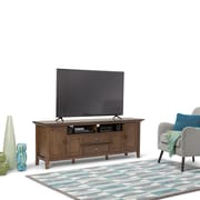 "Simpli Home Redmond 72"" TV Media Stand in Rustic Natural Aged Brown (3AXCADM-07)"