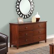 Simpli Home Artisan Bedroom Dresser and Media Cabinet in Medium Auburn Brown (3AXCART-03)
